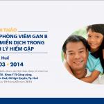 """Hội thảo """"Miễn dịch dự phòng viêm gan B và Globulin miễn dịch trong các bệnh lý hiếm gặp"""" tại Huế 3/2014"""