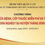 Cùng bệnh viện Quân đội 175 hướng về dân nghèo Quảng Nam